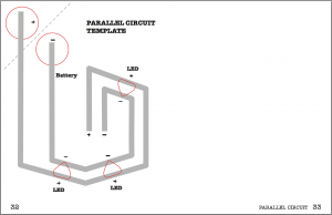 Circuit Stickers template 2 parallel circuit