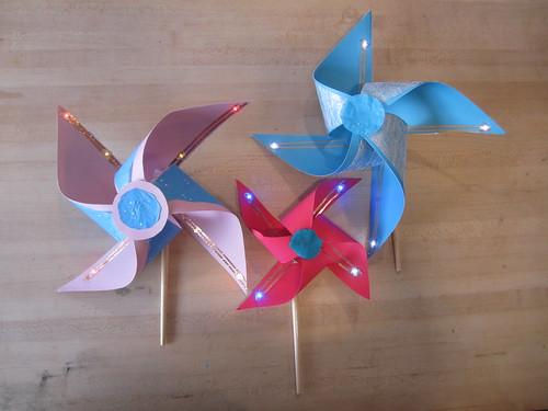 Glowing Paper Pinwheel