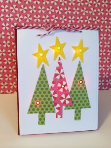 """Twinkle Twinkle"" Christmas Trees Card"