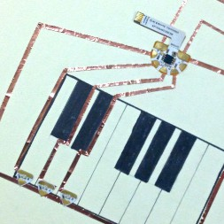 Light Up Piano Notes Chibitronics Circuit Stickers