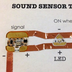 Chibitronics Sound Sensor LED Circuit Stickers