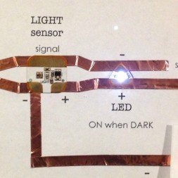 Chibitronics Light Sensor LED Circuit Stickers