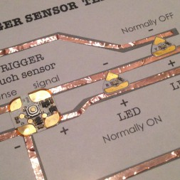 Chibitronics Trigger Sensor Tutorial LED Circuit Stickers