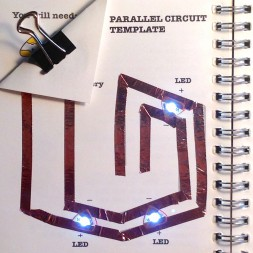 Chibitronics Parallel Circuit Template