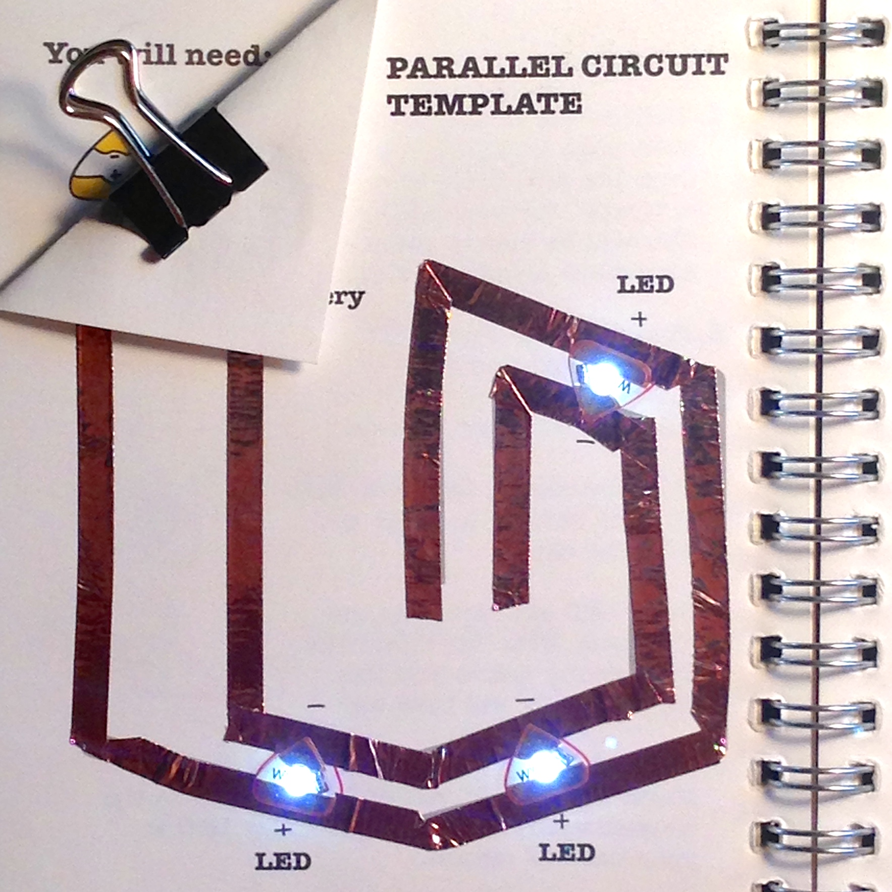 Learn Chibitronics Logic Diagram Template Parallel Circuit Tutorial