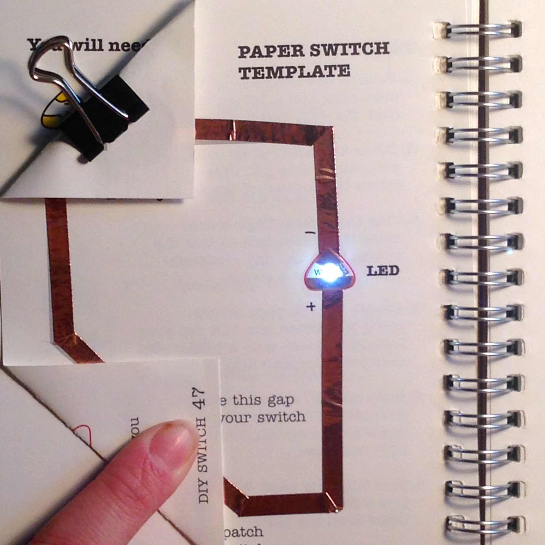 Learn Chibitronics How To Make A Simple Touch Switch Circuit Diy Tutorial