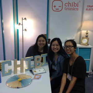 The Chibitronics Booth at CHA, including Kraft Letters, Rosettes and Cards
