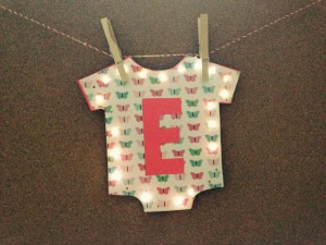 Light-Up Onesie for Baby Gifts/Baby Showers