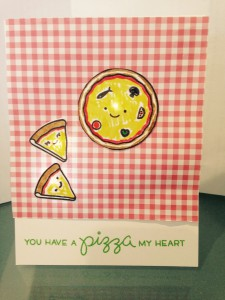 You Have a Pizza My Heart Card (Lawn Fawn & Chibitronics Designer Promotion)