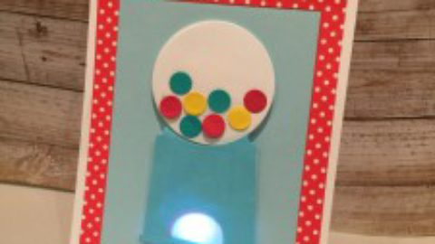 Light Up Bubble Gum Card with My Favorite Things & Chibitronics