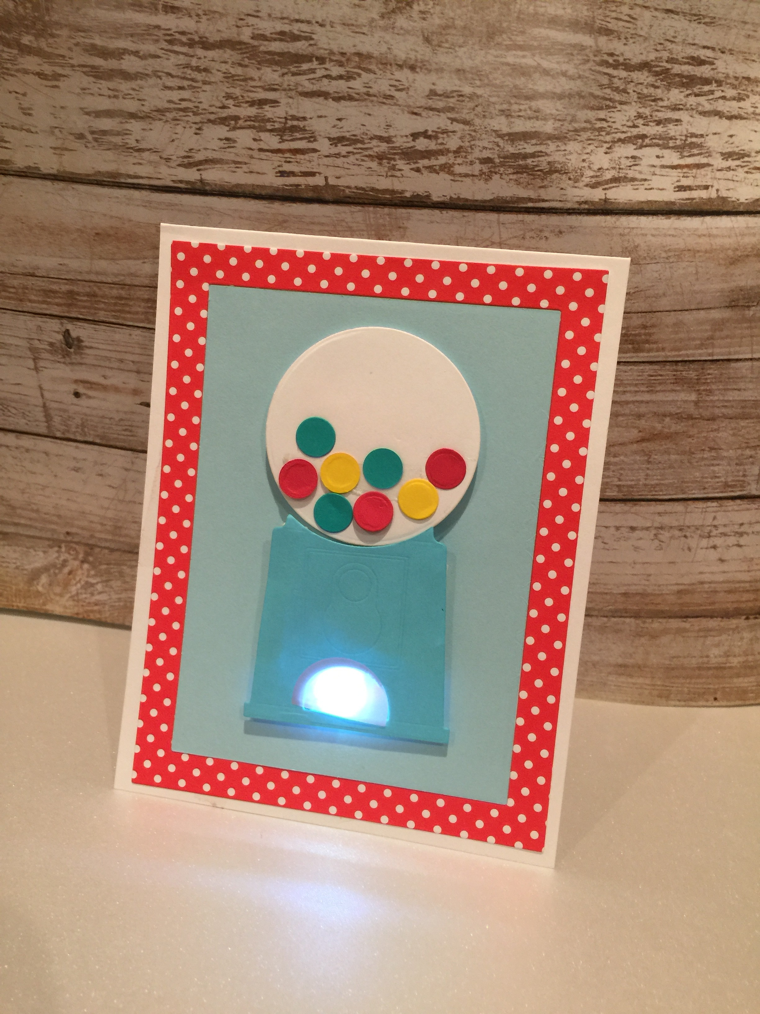 Light Up Bubble Gum Card With My Favorite Things Chibitronics