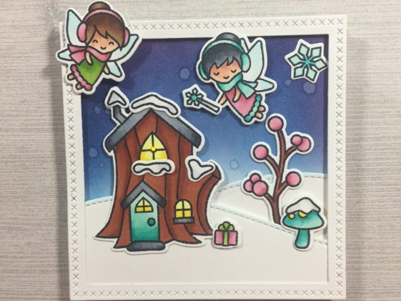 Light-Up Cards with Lawn Fawn Stamps and Chibitronics LED Circuit Stickers