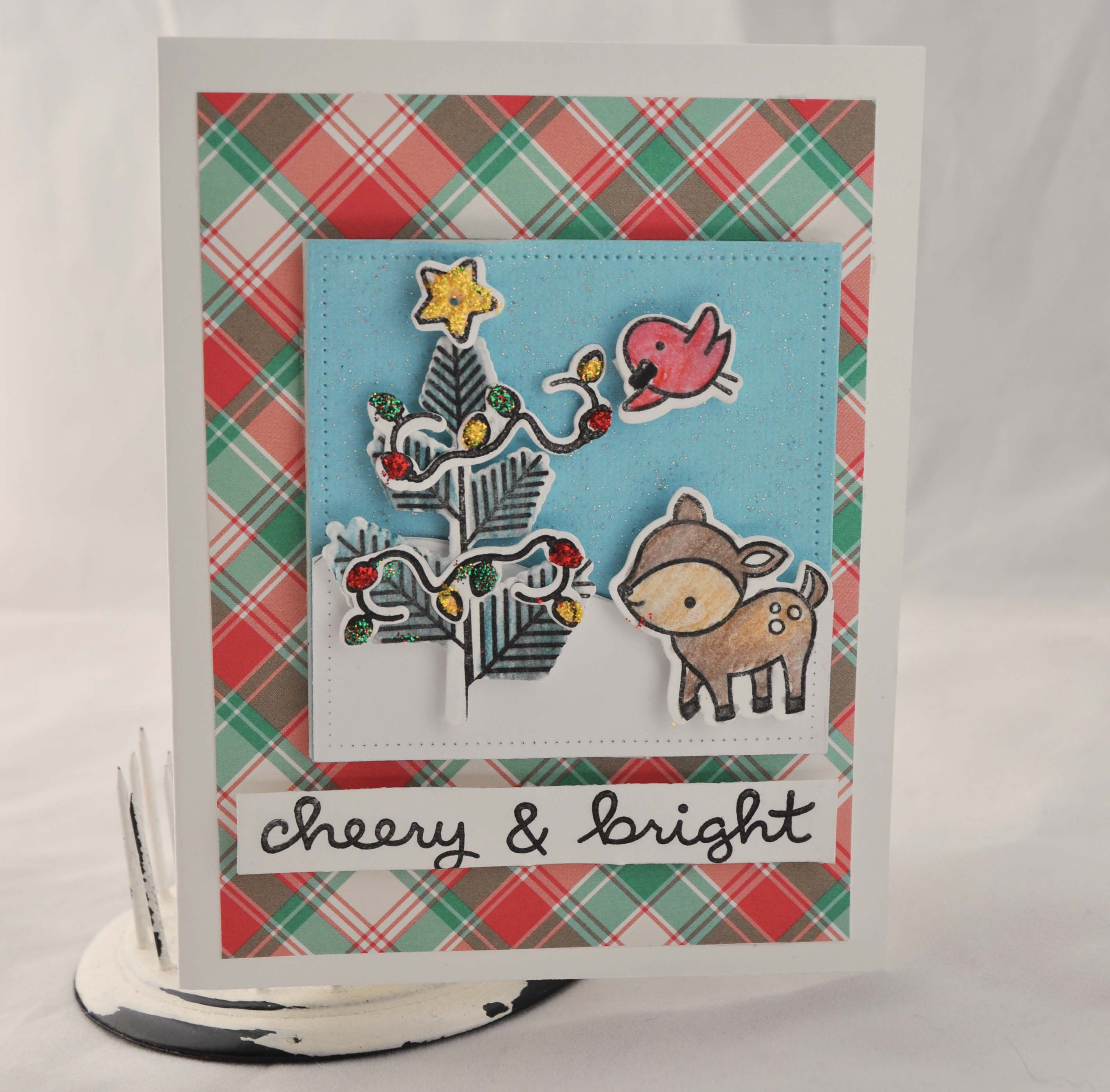 Light Up Holiday Card Lawn Fawn Chibitronics