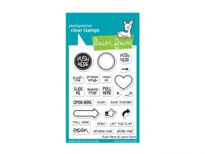 Lawn Fawn Push Here Stamp