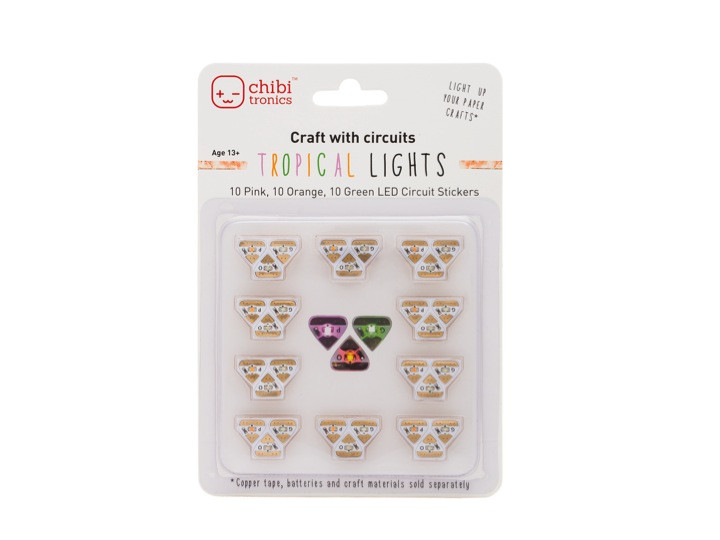 Pink, Orange and Green LED Stickers Pack