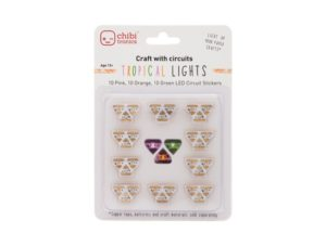 Prink, Orange, Green LED stickers