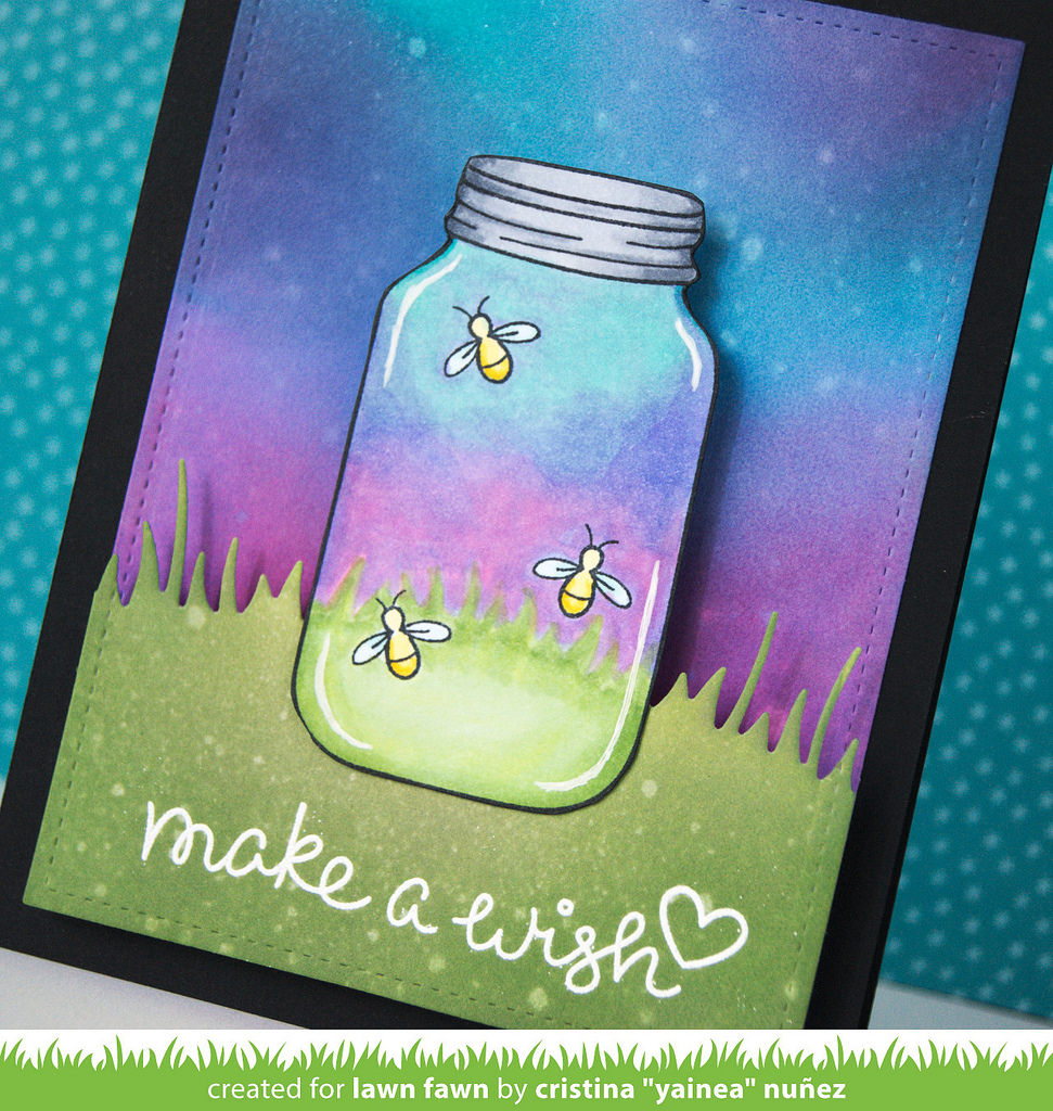 Interactive Fireflies Light Up Led Card Featuring Lawn Fawn
