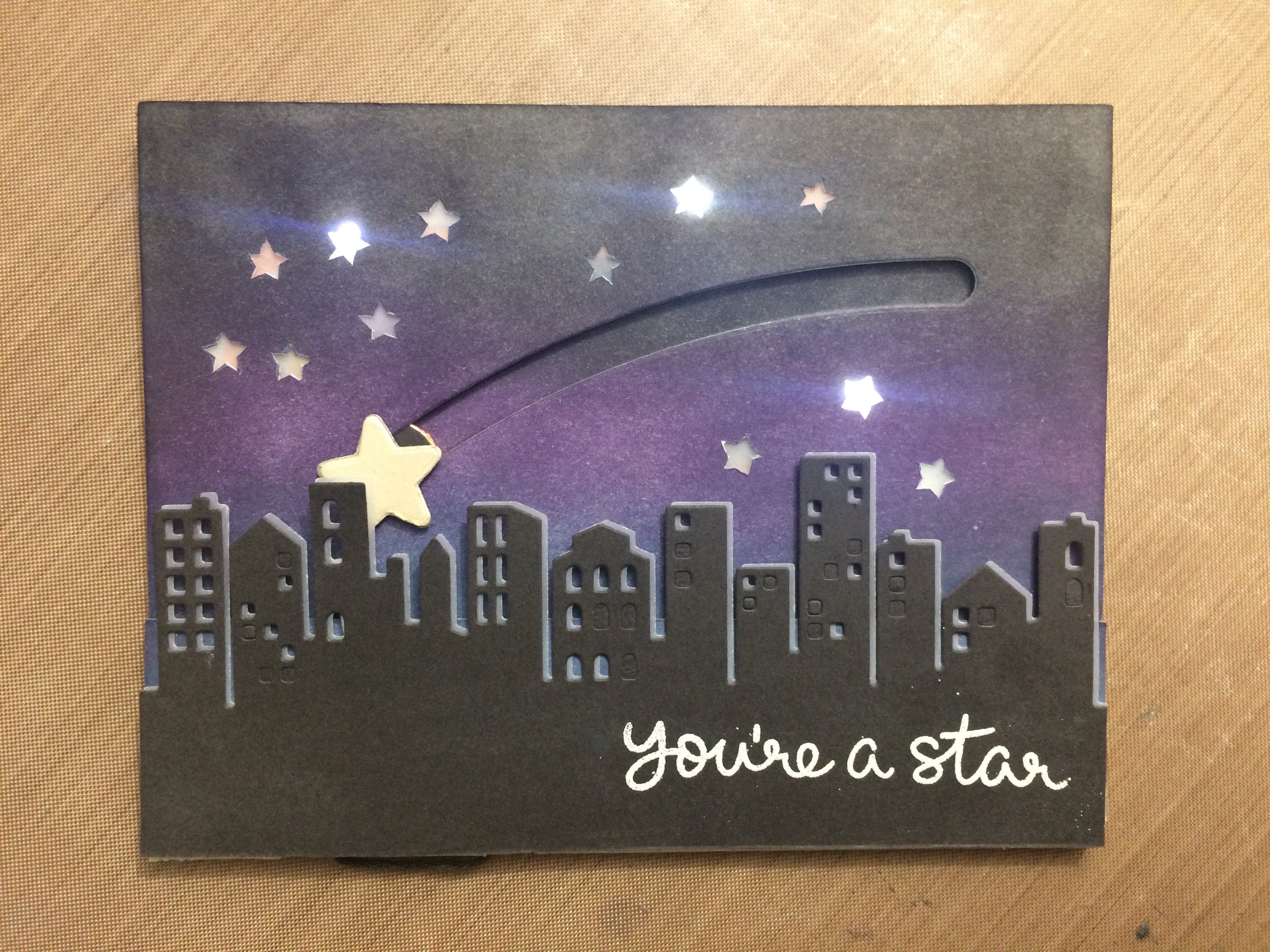 Light Up Stars Card Tutorial With Slider Switch