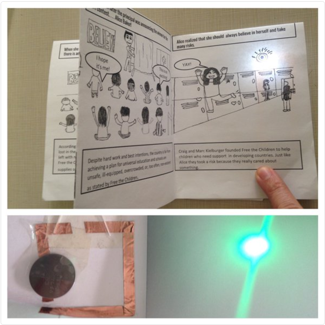 Storyboard & Stapleless Mini Book with Chibi lights