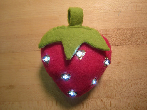 Light-Up Strawberry with Circuit Stickers