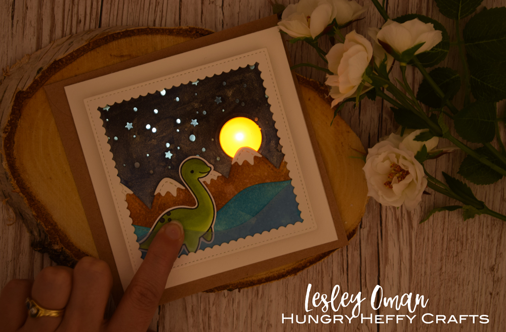 Light Up Nessie Card – Using Two Different Coloured Lights On One Project