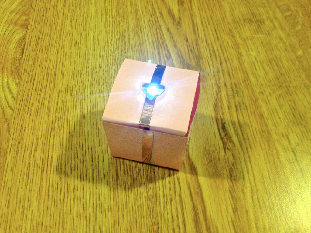 Interactive Light-Up Paper Gift Box Tutorial