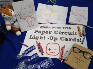 Paper Circuits at Maker Faire with IEEE