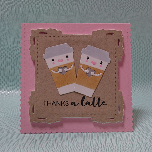 How to make light up coffee couple card.