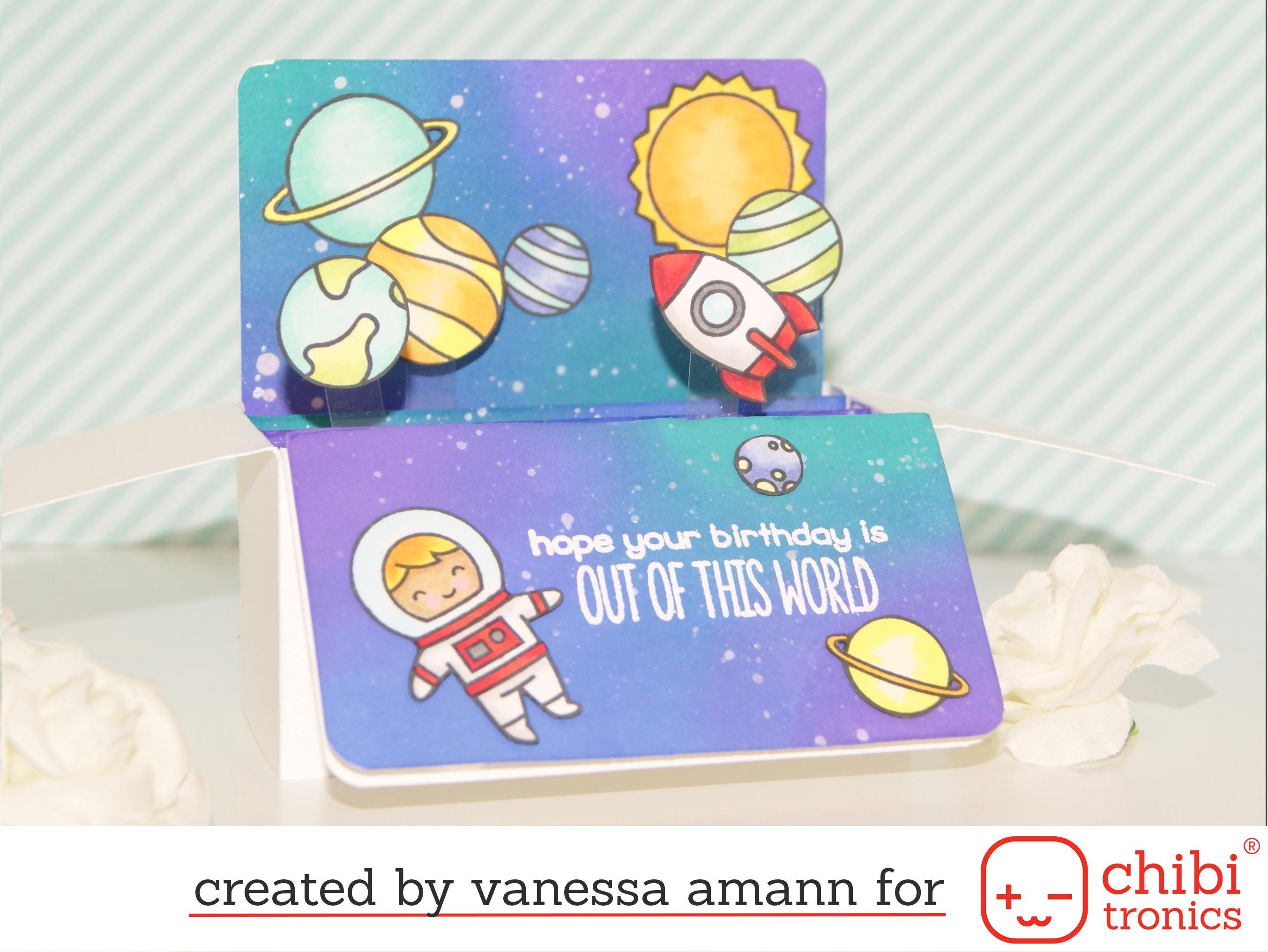 Light up pop up card