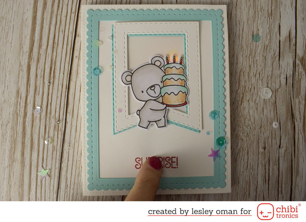 Birthday Card ft. MFT Birthday Bear and a Cake with Chibi Candles!