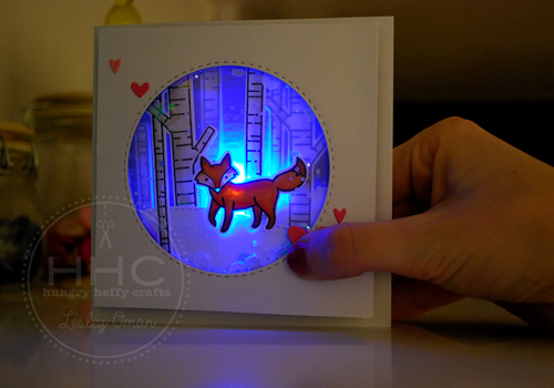 LED Light Up Shaker Card – Winter Fox!