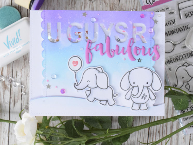 U Guys R Fantastic  – Light Up Shaker Card ft Heffy Doodle