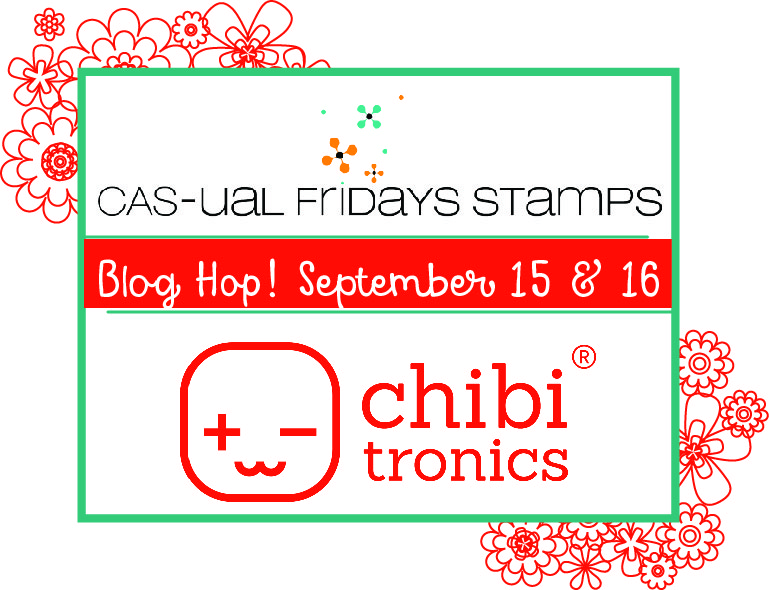 Chibitronics and CAS-ual Friday Stamps Collaboration, day 2