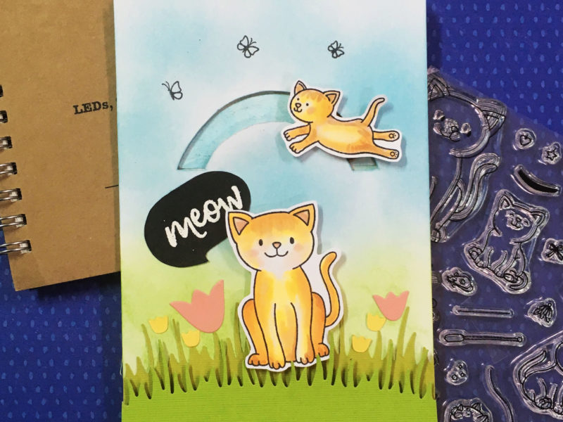 kitty friends -a circle spinner light up card