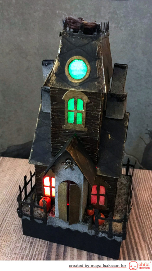 Creating 3D buildings with Tim Holtz and Chibitronics
