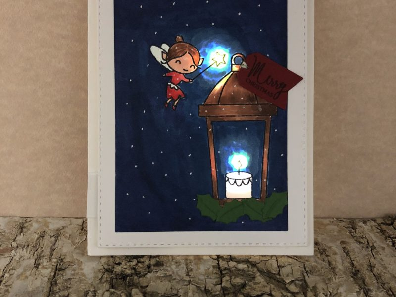 Light Up Christmas Fairy Card