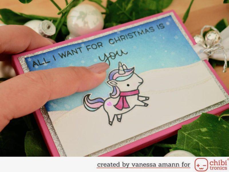 Winter Unicorn Light Up Advent Calendar