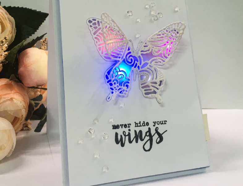 How to create a buttery easel card using effect sticker