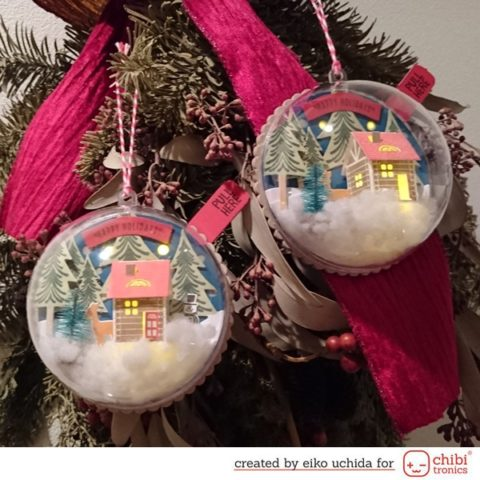 How to make light up snow globe tags.