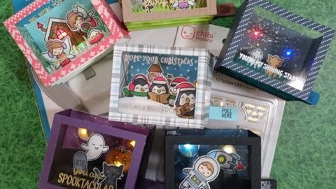 How to make light up shadow box card.