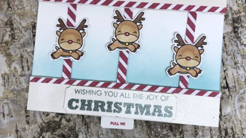 Christmas Carousel Card Featuring A Multilayer Chibitronics Circuit