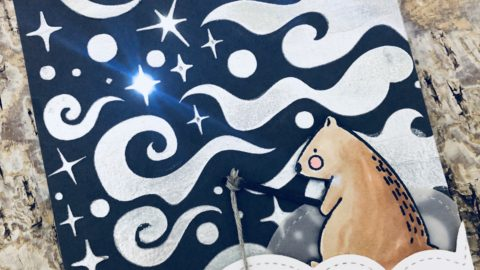 Fishing for a Star Light Up Card