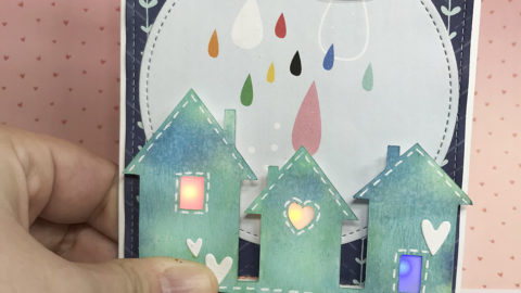 Lighting up windows with coloured LEDs