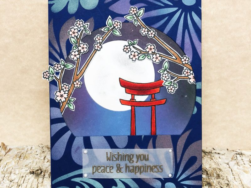 Light-up Moon for Japanese Themed Card