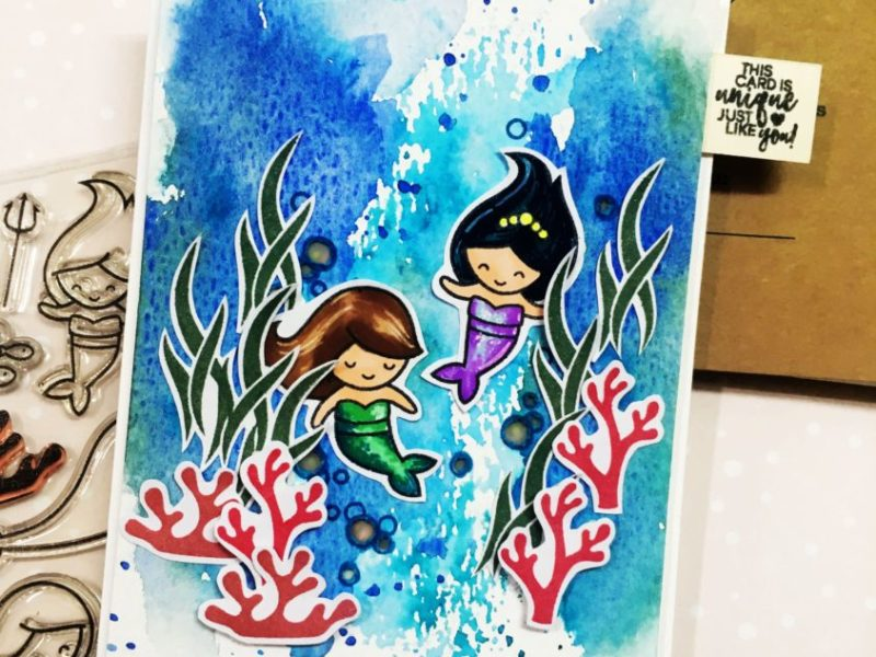 light up mermaid card