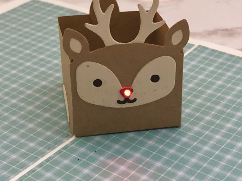 Light Up Reindeer Pop-up Card