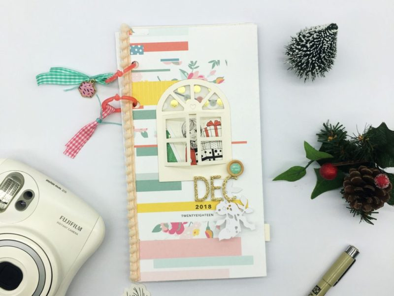 light up December traveler's notebook cover