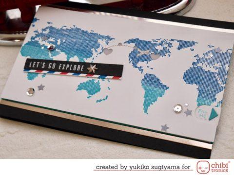 World Map Pull Tab Card
