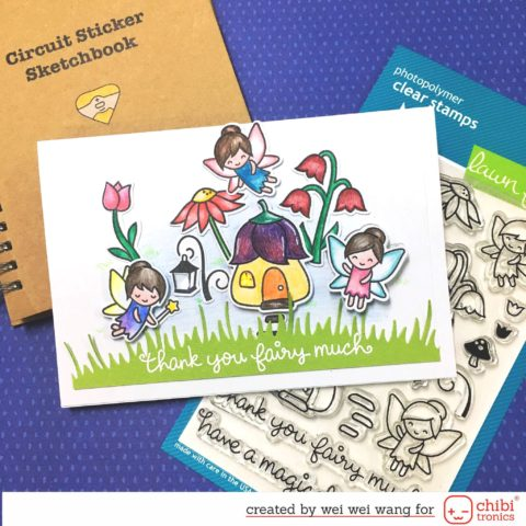 Chibitronics and Lawn Fawn Charge Me Up Kit Release and Inspiration, Day 3