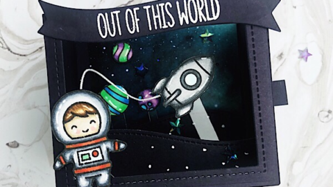 Out of This World Shadow Box Card